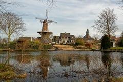 Εικονική παράσταση πόλης σε Ravenstein στις Κάτω Χώρες Στοκ Φωτογραφία