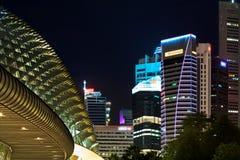 Εικονική παράσταση πόλης Σινγκαπούρης Στοκ Φωτογραφίες