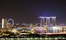 Εικονική παράσταση πόλης Σινγκαπούρη Στοκ Φωτογραφίες