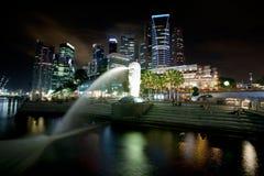 εικονική παράσταση πόλης Σινγκαπούρη Στοκ Εικόνα