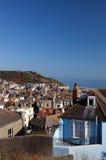 Εικονική παράσταση πόλης σπιτιών όψης Hastings στοκ φωτογραφίες