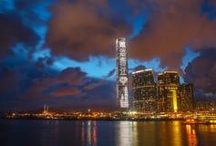 Εικονική παράσταση πόλης στο Χογκ Κογκ στοκ φωτογραφίες με δικαίωμα ελεύθερης χρήσης