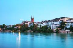 Εικονική παράσταση πόλης της Βασιλείας στην Ελβετία Στοκ εικόνες με δικαίωμα ελεύθερης χρήσης