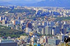 Εικονική παράσταση πόλης της Κορέας Σεούλ στοκ εικόνες