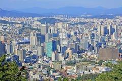 Εικονική παράσταση πόλης της Κορέας Σεούλ στοκ φωτογραφία με δικαίωμα ελεύθερης χρήσης
