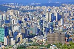 Εικονική παράσταση πόλης της Κορέας Σεούλ στοκ εικόνες με δικαίωμα ελεύθερης χρήσης