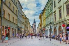 Εικονική παράσταση πόλης της παλαιάς πόλης της Κρακοβίας Στοκ Φωτογραφία