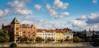 Εικονική παράσταση πόλης της Πράγας, η πρωτεύουσα της Δημοκρατίας της Τσεχίας στοκ εικόνα