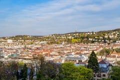 Εικονική παράσταση πόλης της Στουτγάρδης Karlshoehe Στοκ φωτογραφίες με δικαίωμα ελεύθερης χρήσης