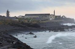 Εικονική παράσταση πόλης της Madalena Resort - η ακτή στο νησί Pico στοκ εικόνες με δικαίωμα ελεύθερης χρήσης