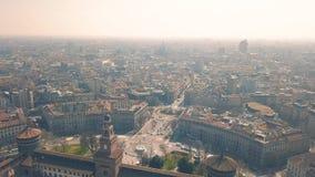 Εικονική παράσταση πόλης του Μιλάνου απόθεμα βίντεο