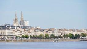 Εικονική παράσταση πόλης του Μπορντώ, στη Γαλλία απόθεμα βίντεο