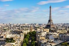 Εικονική παράσταση πόλης του Παρισιού με τον πύργο του Άιφελ Γαλλία Παρίσι Στοκ Εικόνες