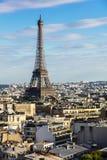 Εικονική παράσταση πόλης του Παρισιού με τον πύργο του Άιφελ Γαλλία Παρίσι Στοκ φωτογραφία με δικαίωμα ελεύθερης χρήσης