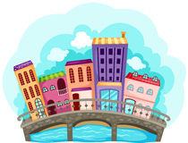 εικονική παράσταση πόλης Στοκ Εικόνες