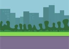 εικονική παράσταση πόλης απεικόνιση αποθεμάτων