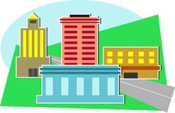 εικονική παράσταση πόλης διανυσματική απεικόνιση