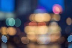 Εικονική παράσταση πόλης bokeh, θολωμένη φωτογραφία, εικονική παράσταση πόλης στοκ εικόνα με δικαίωμα ελεύθερης χρήσης