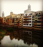 Εικονική παράσταση πόλης Girona Στοκ εικόνα με δικαίωμα ελεύθερης χρήσης