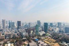 Εικονική παράσταση πόλης άποψης του Τόκιο   Ασιατικό τοπίο μητροπόλεων ταξιδιού της Ιαπωνίας στις 30 Μαρτίου 2017 Στοκ εικόνες με δικαίωμα ελεύθερης χρήσης