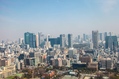 Εικονική παράσταση πόλης άποψης του Τόκιο   Ασιατικό τοπίο μητροπόλεων ταξιδιού της Ιαπωνίας στις 30 Μαρτίου 2017 Στοκ Φωτογραφίες