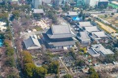 Εικονική παράσταση πόλης άποψης του Τόκιο   Ασιατικό τοπίο μητροπόλεων ταξιδιού της Ιαπωνίας στις 30 Μαρτίου 2017 Στοκ φωτογραφίες με δικαίωμα ελεύθερης χρήσης