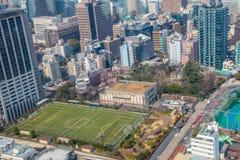 Εικονική παράσταση πόλης άποψης του Τόκιο   Ασιατικό τοπίο μητροπόλεων ταξιδιού της Ιαπωνίας στις 30 Μαρτίου 2017 Στοκ φωτογραφία με δικαίωμα ελεύθερης χρήσης
