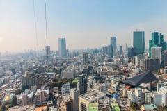 Εικονική παράσταση πόλης άποψης του Τόκιο   Ασιατικό τοπίο μητροπόλεων ταξιδιού της Ιαπωνίας στις 30 Μαρτίου 2017 Στοκ Εικόνα