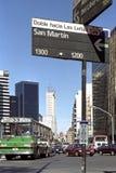 Εικονική παράσταση πόλης, άποψη οδών, Μπουένος Άιρες, Αργεντινή Στοκ φωτογραφία με δικαίωμα ελεύθερης χρήσης