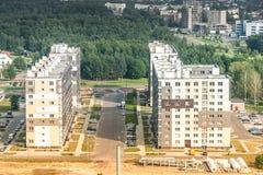 Εικονική παράσταση πόλης - άποψη Birdeye Στοκ Εικόνες
