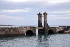 Εικονική παράσταση πόλης από κύριο Arrecife των Κανάριων νησιών Lanzarote, Ισπανία Στοκ Φωτογραφίες