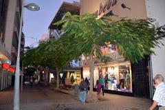 Εικονική παράσταση πόλης από κύριο Arrecife των Κανάριων νησιών Lanzarote, Ισπανία Στοκ Εικόνα