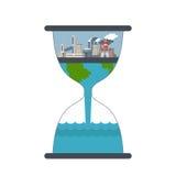 Εικονική παράσταση πόλης ατμοσφαιρικής ρύπανσης ελεύθερη απεικόνιση δικαιώματος