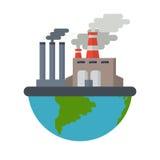 Εικονική παράσταση πόλης ατμοσφαιρικής ρύπανσης διανυσματική απεικόνιση