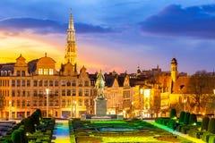Εικονική παράσταση πόλης Βέλγιο των Βρυξελλών Στοκ εικόνα με δικαίωμα ελεύθερης χρήσης