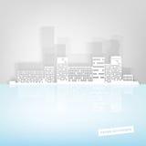 Εικονική παράσταση πόλης εγγράφου Στοκ φωτογραφία με δικαίωμα ελεύθερης χρήσης