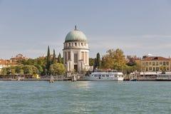 Εικονική παράσταση πόλης νησιών Lido από την ενετική λιμνοθάλασσα, Ιταλία Στοκ εικόνα με δικαίωμα ελεύθερης χρήσης