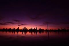 Εικονική παράσταση πόλης Ντουμπάι Στοκ Εικόνα