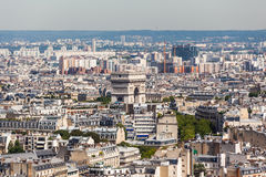 εικονική παράσταση πόλης Παρίσι Στοκ Εικόνες