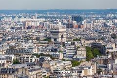 εικονική παράσταση πόλης Παρίσι Στοκ εικόνα με δικαίωμα ελεύθερης χρήσης
