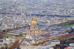 εικονική παράσταση πόλης Παρίσι Στοκ Φωτογραφία