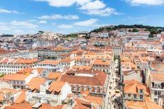 Εικονική παράσταση πόλης Πορτογαλία της Λισσαβώνας Στοκ Εικόνες