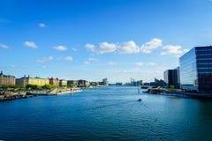 Εικονική παράσταση πόλης προκυμαιών της Κοπεγχάγης στην Κοπεγχάγη, Δανία Στοκ φωτογραφίες με δικαίωμα ελεύθερης χρήσης