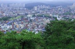 Εικονική παράσταση πόλης σε Suwon Νότια Κορέα στοκ εικόνα