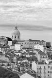 Εικονική παράσταση πόλης στην περιοχή Alfama, Λισσαβώνα, Portual Στοκ Εικόνα