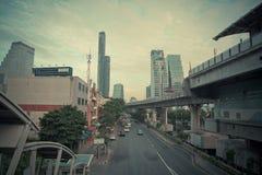Εικονική παράσταση πόλης στη Μπανγκόκ, Ταϊλάνδη Στοκ Εικόνες
