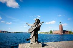 Εικονική παράσταση πόλης στη Στοκχόλμη Στοκ φωτογραφίες με δικαίωμα ελεύθερης χρήσης