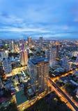 εικονική παράσταση πόλης Ταϊλάνδη της Μπανγκόκ Στοκ φωτογραφία με δικαίωμα ελεύθερης χρήσης