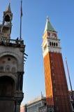 Εικονική παράσταση πόλης της Βενετίας - καμπαναριό του σημαδιού του ST Στοκ Φωτογραφίες