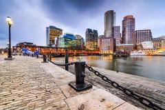 Εικονική παράσταση πόλης της Βοστώνης Μασαχουσέτη Στοκ Εικόνες